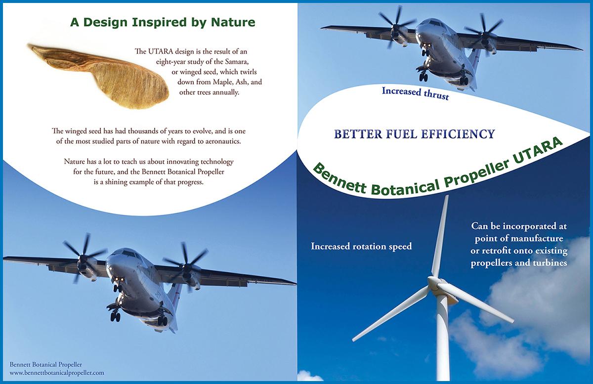 Bennett Botanical Propeller UTARA Outside Brochure