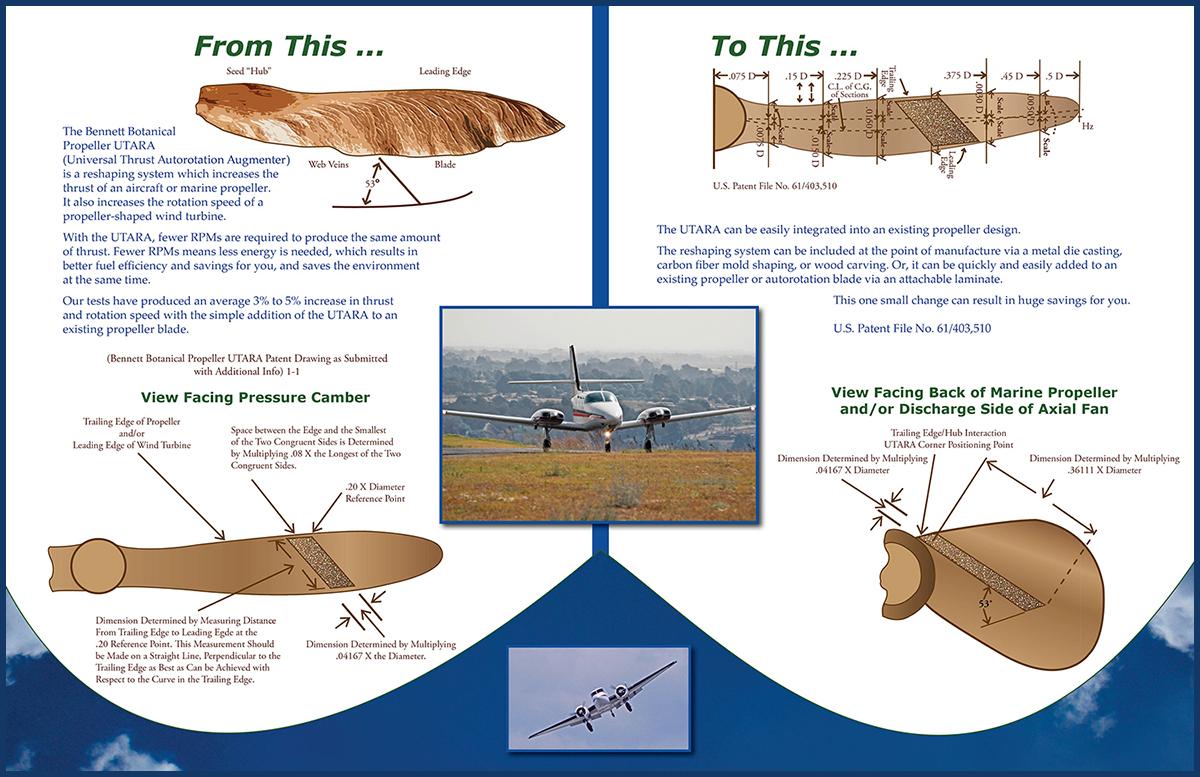 Bennett Botanical Propeller UTARA Inside Brochure