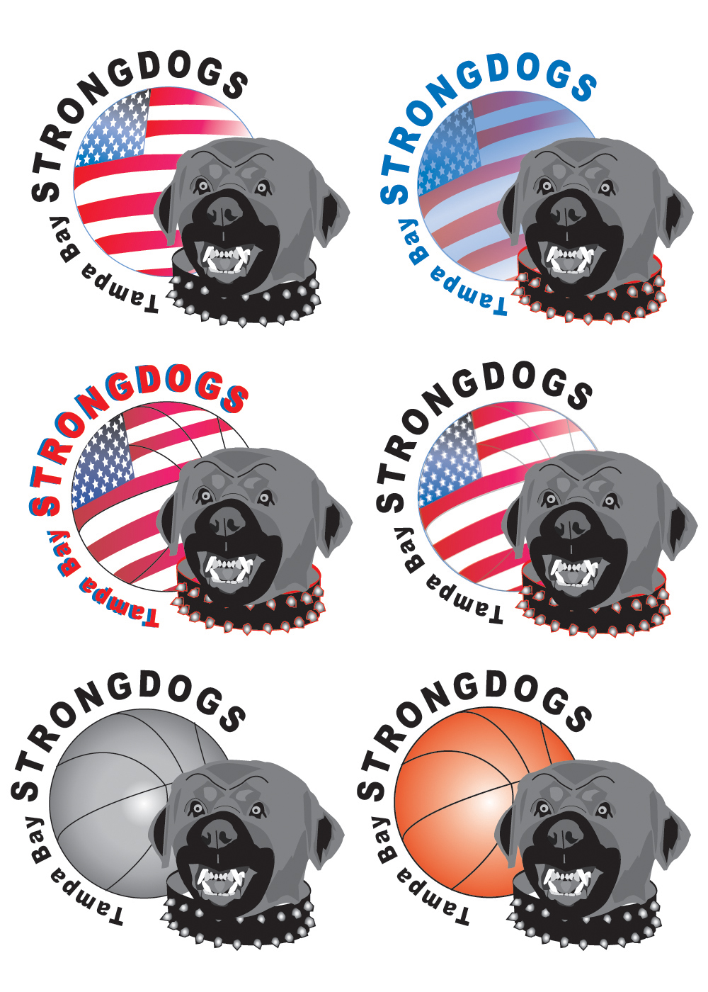 Tampa Bay Strongdogs Logos