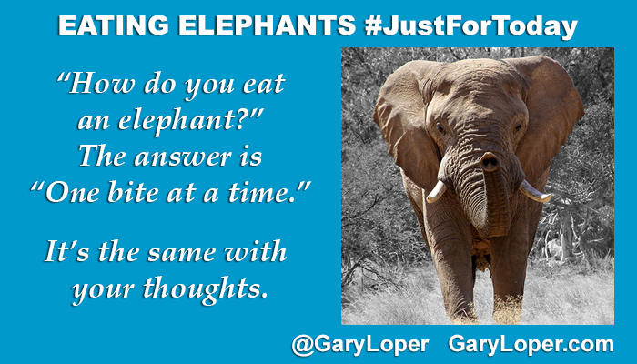 EATING ELEPHANTS - JustForToday