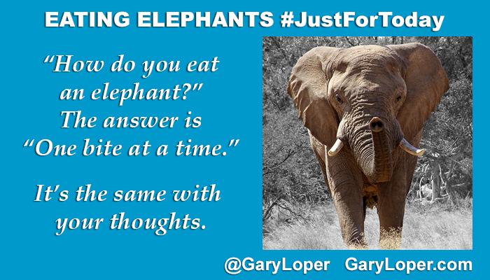 EATING ELEPHANTS - JustForToday