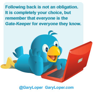 Following back is not an obligation