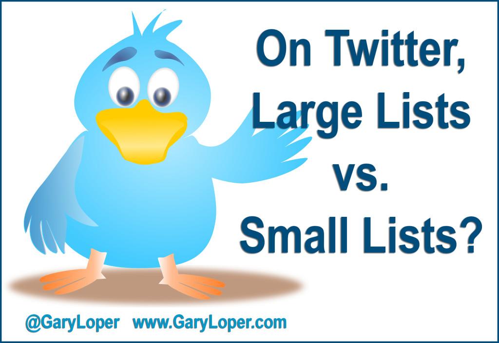Large lists vs