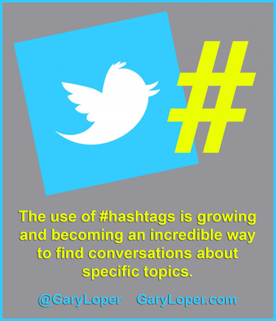 The use of hashtags is growing and becoming an incredible way to find conversations about specific topics