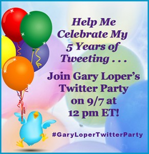 Gary Loper BBR BTR Join My Twitter Party 9 7 13 Life Business Social Media Coach