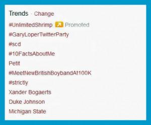 GaryLoperTwitterParty Trending 09 07 13