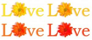 Love 4 panel flowers