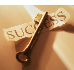 Success Key White border on top