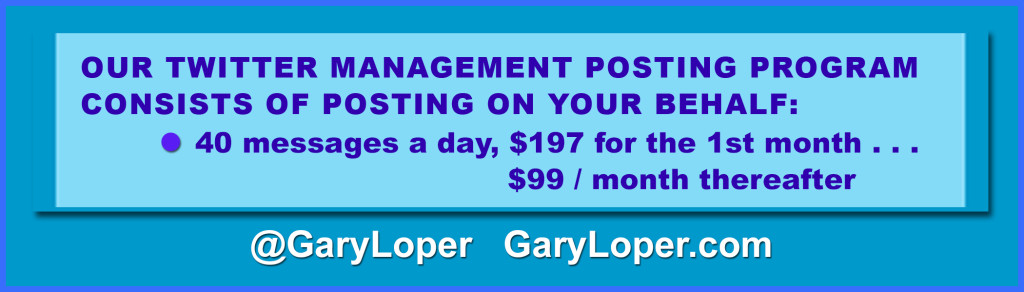 Twitter Management Posting Table $197 1st month $99 thereafter