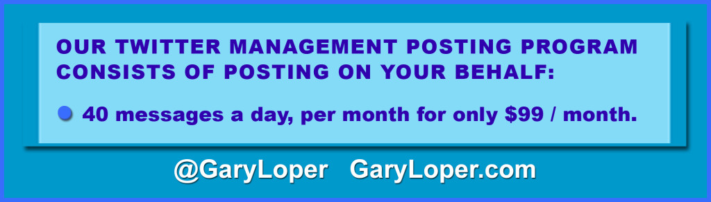 Twitter Management Posting Table SPECIAL 99 month updated NOVEMBER 2015