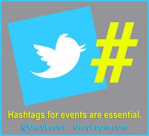 Hashtags for events like that are essential