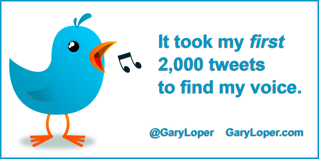 It took my first 2,000 tweets to find my voice