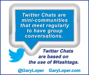 Twitter Chats are based on the use of Hashtags