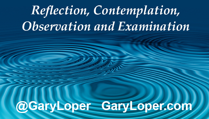 Reflection, deliberate contemplation, and profound observation and examination 2
