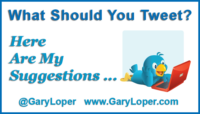 What Should You Tweet - These Are My Suggestions